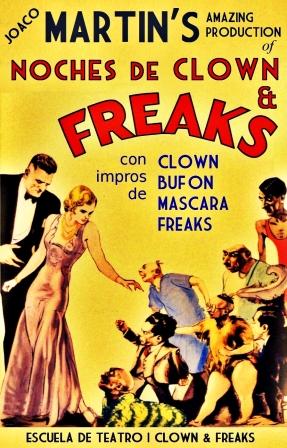 Portada Noches de Clown & Freaks 2012,2013